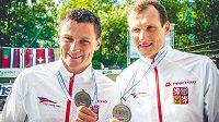 Čeští deblkanoisté Jonáš Kašpar a Marek Šindler vybojovali bronz na mistrovství Evropy v Tacenu.