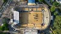 Kladenský zimní stadion bez střechy