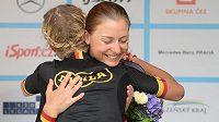 Melissa van Neck (čelem) na letošním domácím šampionátu v Karlových Varech.