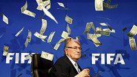 Předseda FIFA Sepp Blatter se stal symbolem pro korupci a úplatky.