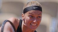 Petra Kvitová během 1. kola French Open.