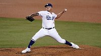 Julio Urias z Los Angeles Dodgers v akci.
