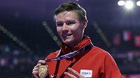 Čtvrtkař Pavel Maslák se zlatou medailí z HMS v Birminghamu.