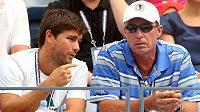 Ivan Lendl (vpravo) bude sledovat Davis Cup na vlastní oči.