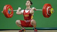 Čínská vzpěračka Teng Wej získala v Riu de Janeiro olympijské zlato ve váhové kategorii do 63 kg ve světovém rekordu.