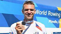 Ondřej Synek se světovým stříbrem, svojí patnáctou velkou medailí z vrcholné akce v řadě.