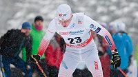 Běžec na lyžích Lukáš Bauer při SP v Novém Městě na Moravě.