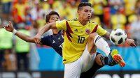 Ani příchod James Rodrígueze na trávník po změně stran Kolumbijcům k obratu zápasu nepomohl.