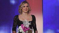 Rychlobruslařka Karolína Erbanová při vyhlašování ankety Sportovec roku.