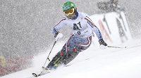 Rus Alexander Chorošilov nejlépe v hustém sněžení zvládl první kolo slalomu ve Schladmingu.