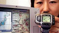 Jedny z prvních hodinek s navigací GPS na světě. (na snímku model PRT-2GP)