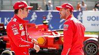 Charles Leclerc a Sebastian Vettel.