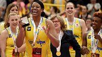 Basketbalistka USK Praha Kia Vaughnová byla vyhlášena nejužitečnější hráčkou turnaje.