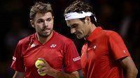Vztahy obou švýcarských tenisových hvězd nejsou zrovna ideální, ale na kurtu jim to spolu klape.