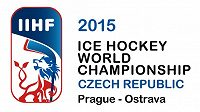 Logo hokejového MS 2015 v České republice.