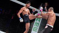 Ilustrační foto: Devětadvacetiletý Aalon Cruz (vlevo) je novým zápasníkem UFC. Jeho koleno nadchlo prezidenta organizace.