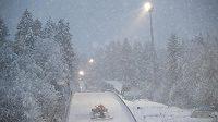 Husté sněžení nedovolilo absolvovat skokanům sobotní kvalifikaci závěrečného dílu Turné čtyř můstků v Bischofshofenu.