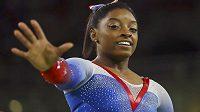 Američanka Simone Bilesová, královna gymnastických soutěží v Riu.