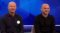 Někdejší kanonýr Newcastlu Alan Shearer (vlevo) a bývalý záložník Liverpoolu Danny Murphy, přijali vtip Garyho Linekera s humorem.