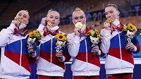 Ruské gymnastky vyhrály poprvé od roku 1992 soutěž družstev na olympijských hrách