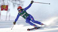 Italka Federica Brignoneová na trati obřího slalomu v Lienzu.