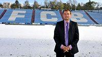 Nový kouč ostravských fotbalistů Martin Pulpit na zasněžených Bazalech