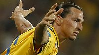 Švédský snajpr Zlatan Ibrahimovic se raduje z vítězné trefy v utkání proti Francii