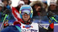 Radost amerického lyžaře Teda Ligetyho.