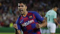 Luis Suárez potvrdil roli kanonýra. Dvěma góly otočil duel proti Interu Milán a Barcelona slaví v Lize mistrů první výhru.