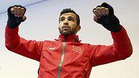 Marocký boxer Achraf Kharroubi na tréninku v Riu de Janeiro.