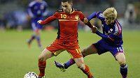 Eden Hazard (vlevo) je elitním představitelem mladé úspěšné Belgie.