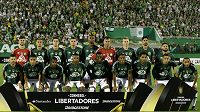 Chapecoense před zápasem s Lanusem v rámci Copa Libertadores.