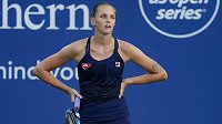 Karolína Plíšková nezačala zápas 2. kola US Open ve velkém stylu.