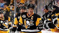 Sidney Crosby. Za pár dnů mu budou spoluhráči blahopřát 1000 bodům v NHL.