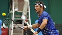 Bývalý vynikající australský tenista Pat Cash si zahrál v Prostějově exhibici
