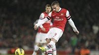 Fotbalista Arsenalu Lukas Podolski