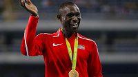 Světový rekordman v běhu na 800 metrů David Rudisha