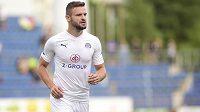 Útočník Slovácka Tomáš Zajíc, střelec jediné branky zápasu se Zlínem.