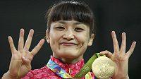 Japonská zápasnice Kaori Ičová.