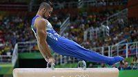 Britský gymnasta Louis Smith na olympiádě v Riu de Janeiro.