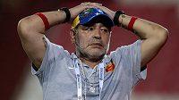 Diego Maradona končí na lavičce druholigového Al-Fudžajra.
