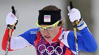 Petra Nováková během olympijského sprintu.
