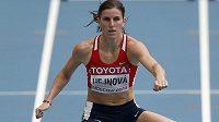 Zuzana Hejnová v rozběhu na 400 metrů překážek.