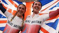 Olympijskými vítězkami v madisonu se staly britské dráhařky Katie Archibaldová a Laura Kennyová
