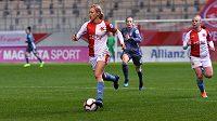 Kateřina Svitková v utkání Ligy mistrů proti Bayernu Mnichov.