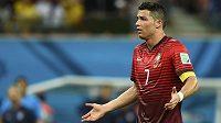 Cristiano Ronaldo je zatím stínem velkého hráče - na MS se nejspíš i kvůli zranění trápí a Portugalsku příliš nepomáhá.