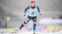 Česká běžkyně Kateřina Janatová během závodu na 10 km v rámci SP v běžeckém lyžování v Novém Městě na Moravě.