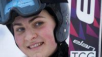 Česká reprezentanka ve skocích na lyžích Michaela Doleželová.