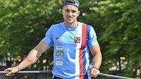 Kanoista Martin Fuksa na tiskové konferenci v Praze před zahájením sezóny v rychlostní kanoistice.