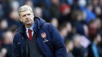 Zachmuřený trenér Arsenalu Arséne Wenger